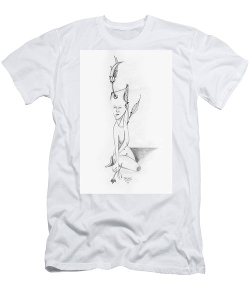 Surreal Woman With Plant And Flower Growing Through Her Men's T-Shirt (Athletic Fit)