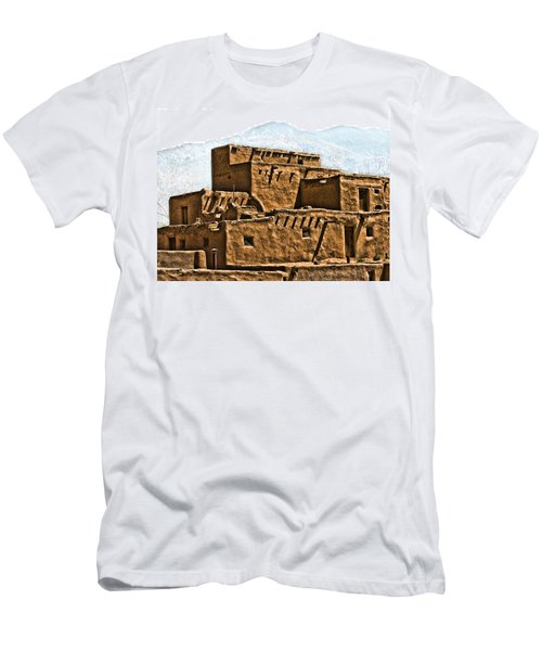 Taos Pueblo Men's T-Shirt (Athletic Fit)