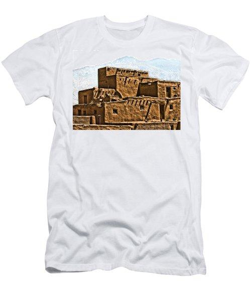 Taos Pueblo Men's T-Shirt (Athletic Fit)