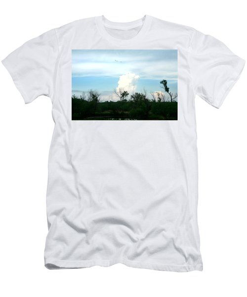 Men's T-Shirt (Slim Fit) featuring the photograph The Back Forty by Lon Casler Bixby