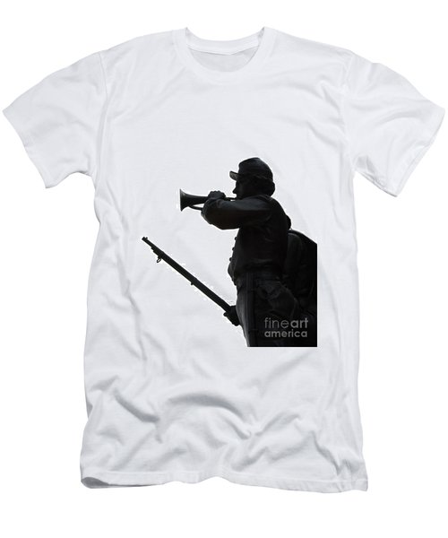 Men's T-Shirt (Slim Fit) featuring the photograph The Bugler by Cindy Manero
