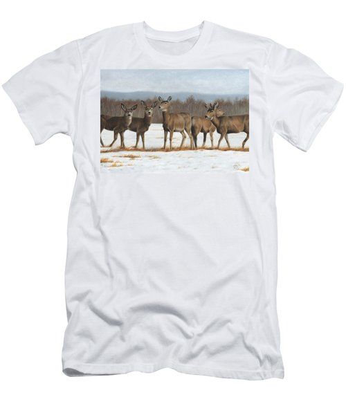 Men's T-Shirt (Athletic Fit) featuring the painting The Gathering by Tammy Taylor
