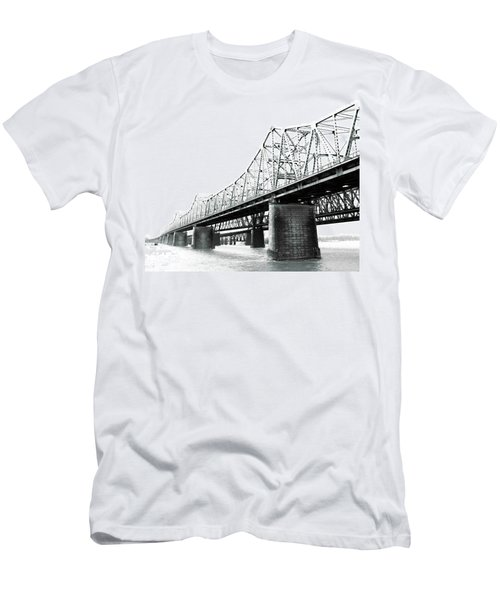 Men's T-Shirt (Slim Fit) featuring the photograph The Old Bridges At Memphis by Lizi Beard-Ward