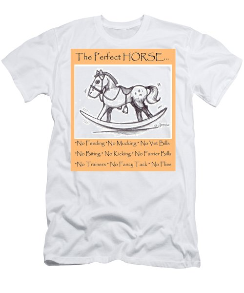 Men's T-Shirt (Slim Fit) featuring the drawing the Perfect Horse by George Pedro