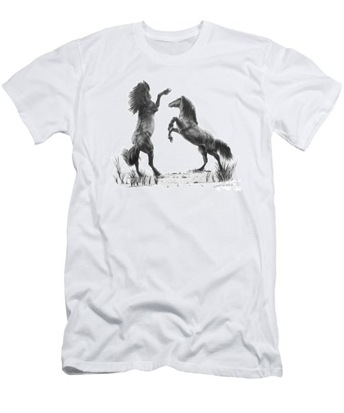 Men's T-Shirt (Slim Fit) featuring the drawing the Stand by Marianne NANA Betts