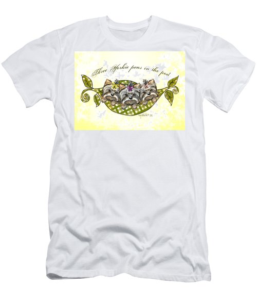 Three Yorkie Peas In The Pod Men's T-Shirt (Athletic Fit)