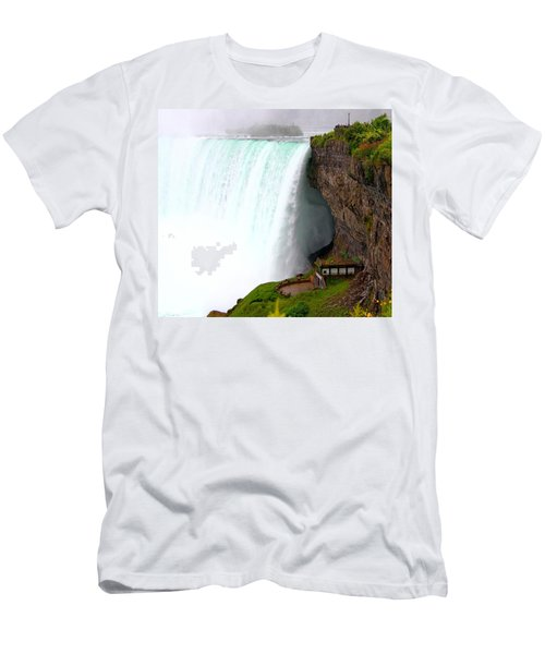 Men's T-Shirt (Slim Fit) featuring the photograph Thundering Force by Davandra Cribbie