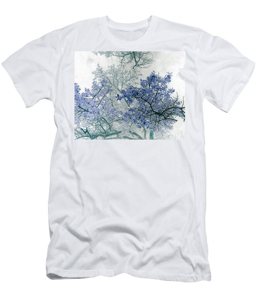 Trees Above Men's T-Shirt (Slim Fit) by Rebecca Margraf