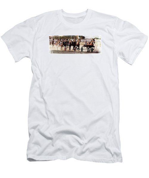 Men's T-Shirt (Slim Fit) featuring the photograph Trotting 3 by Pedro Cardona