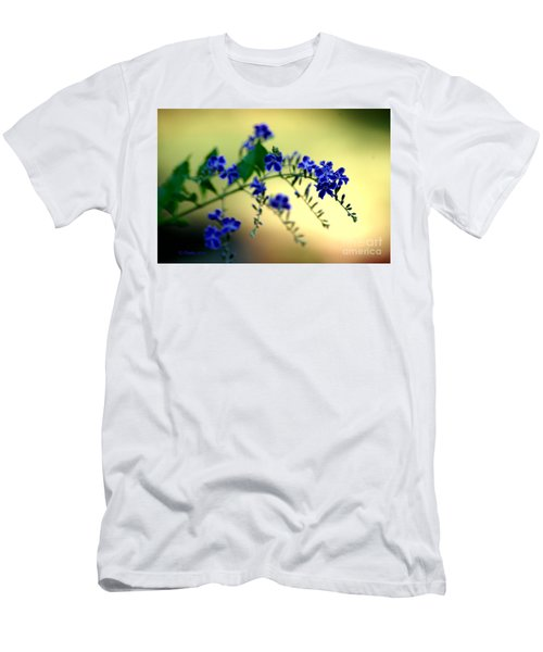 Men's T-Shirt (Athletic Fit) featuring the photograph Tru Blu by Donna Bentley
