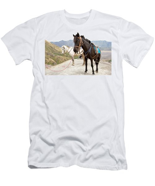 Men's T-Shirt (Slim Fit) featuring the photograph Two Horses by Yew Kwang