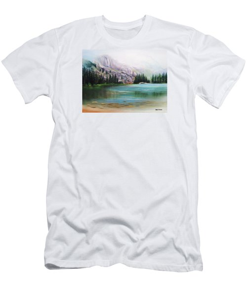 Veil Over Elk Lake Men's T-Shirt (Slim Fit) by Patti Gordon