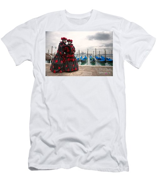 Men's T-Shirt (Slim Fit) featuring the photograph Venice Carnival Mask by Luciano Mortula