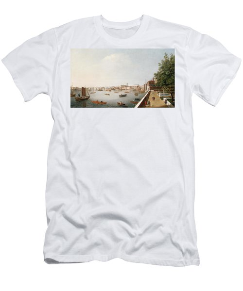 View Of The River Thames From The Adelphi Terrace  Men's T-Shirt (Athletic Fit)