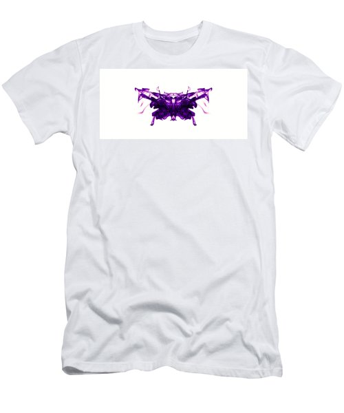 Violet Abstract Butterfly Men's T-Shirt (Athletic Fit)