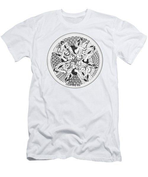 Virgae Men's T-Shirt (Slim Fit) by Rachel Hershkovitz