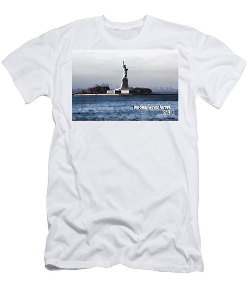 We Shall Never Forget - 9/11 Men's T-Shirt (Athletic Fit)