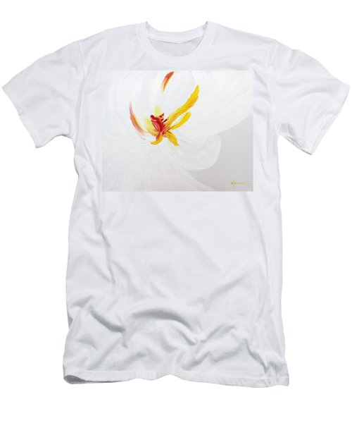 White Flower Men's T-Shirt (Slim Fit) by Kume Bryant