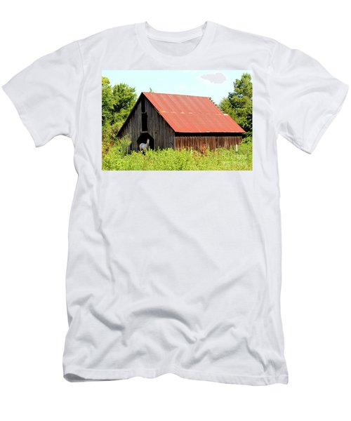 Men's T-Shirt (Slim Fit) featuring the photograph White Horse Waiting by Kathy  White
