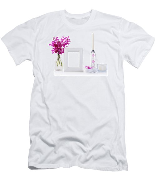 White Picture Frame In Decoration Men's T-Shirt (Slim Fit) by Atiketta Sangasaeng
