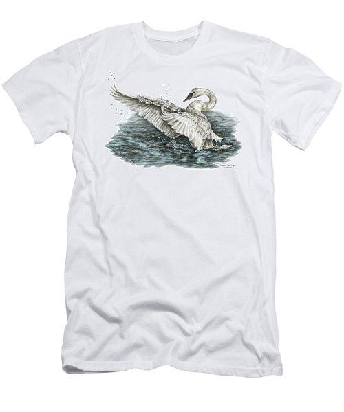 White Swan - Dreams Take Flight-tinted Men's T-Shirt (Athletic Fit)