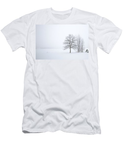 Winter Fog And Trees Men's T-Shirt (Athletic Fit)