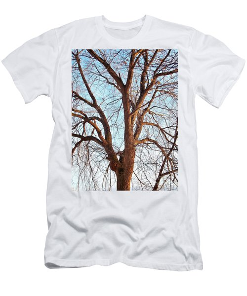 Men's T-Shirt (Slim Fit) featuring the photograph Winter Light by Chalet Roome-Rigdon