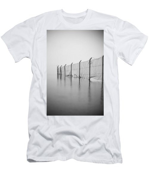 Wire Mesh Fence Men's T-Shirt (Athletic Fit)
