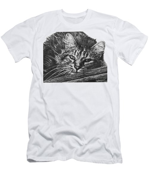 Men's T-Shirt (Slim Fit) featuring the drawing Wyatt by Marianne NANA Betts
