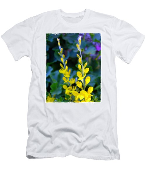 Men's T-Shirt (Slim Fit) featuring the photograph Yellow Plumes by Judi Bagwell