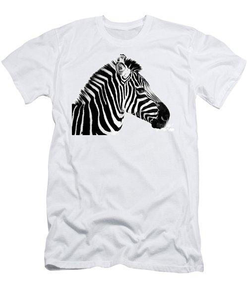 Men's T-Shirt (Slim Fit) featuring the photograph Zebra by Rebecca Margraf