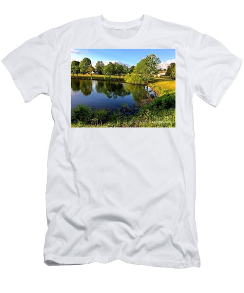 Men's T-Shirt (Slim Fit) featuring the photograph  Cypress Creek - No.430 by Joe Finney