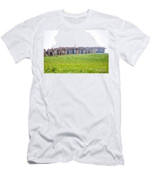 Gettysburg Confederate Infantry 0157c Men's T-Shirt (Athletic Fit)