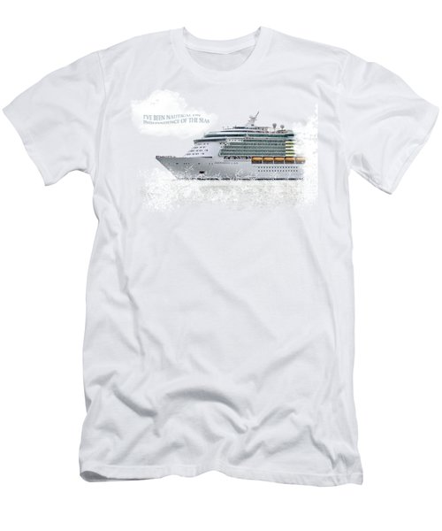 I've Been Nauticle On Independence Of The Seas On Transparent Background Men's T-Shirt (Slim Fit) by Terri Waters