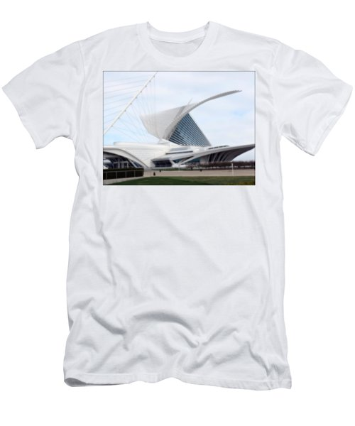 Men's T-Shirt (Slim Fit) featuring the photograph  Milwaukee Art Museum by Kay Novy