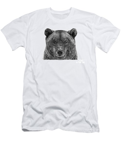 Men's T-Shirt (Slim Fit) featuring the drawing 045 Papa Bear by Abbey Noelle