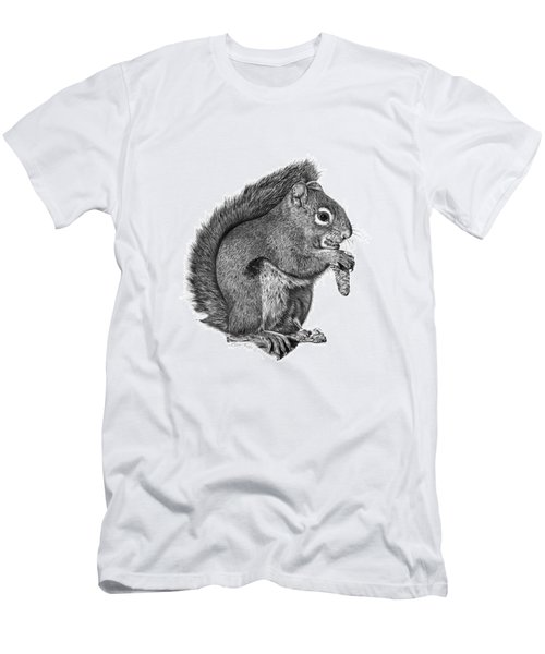 Men's T-Shirt (Slim Fit) featuring the drawing 058 Sweeney The Squirrel by Abbey Noelle