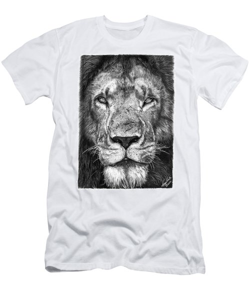 Men's T-Shirt (Slim Fit) featuring the drawing 059 - Lorien The Lion by Abbey Noelle