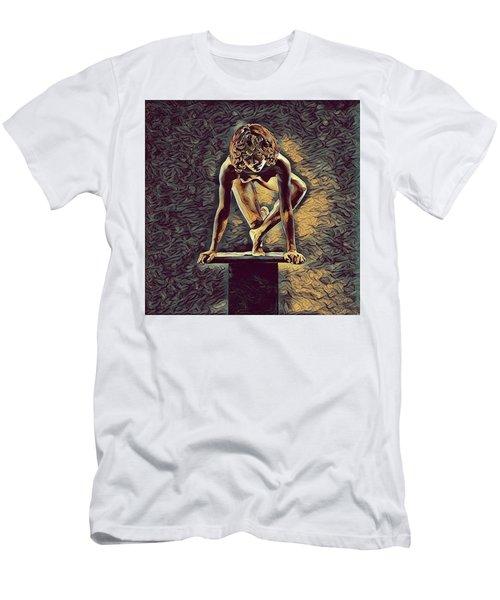 0948s-zak Dancer Balanced On Pedestal In The Style Of Antonio Bravo  Men's T-Shirt (Athletic Fit)
