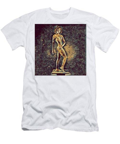 0957s-zac Fit Black Dancer Standing On Platform Men's T-Shirt (Athletic Fit)