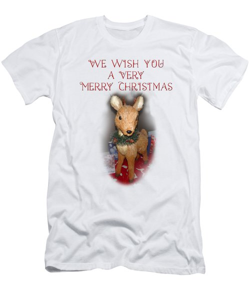 A Very Merry Christmas Men's T-Shirt (Slim Fit) by Judy Hall-Folde