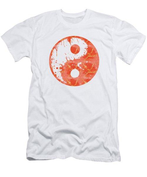 Abstract Yin And Yang Taijitu Symbol Men's T-Shirt (Athletic Fit)