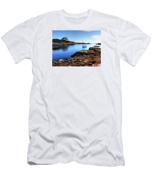 Men's T-Shirt (Slim Fit) featuring the photograph Almost Paradise Newport Ri by Tom Prendergast