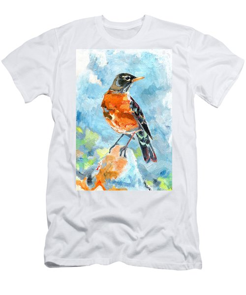 American Robin Men's T-Shirt (Athletic Fit)