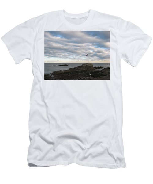 Men's T-Shirt (Slim Fit) featuring the photograph Anchor Beach by John Scates
