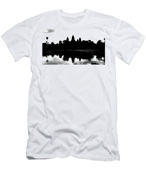 Angkor Wat Black  Men's T-Shirt (Athletic Fit)