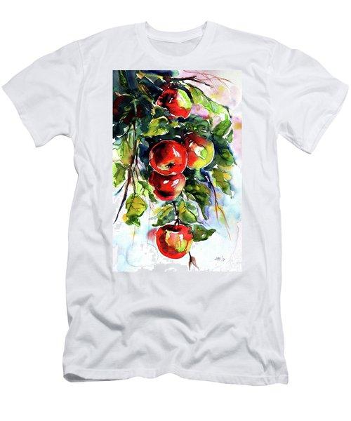 Apples Men's T-Shirt (Slim Fit) by Kovacs Anna Brigitta
