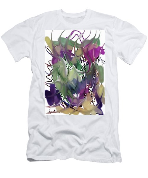 Men's T-Shirt (Slim Fit) featuring the digital art Art Abstract by Sheila Mcdonald