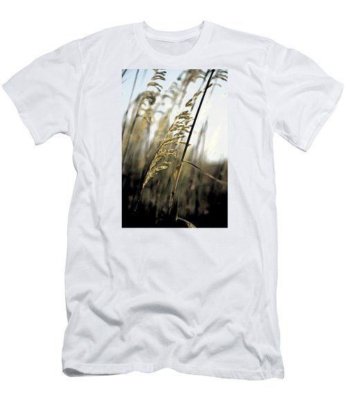 Men's T-Shirt (Slim Fit) featuring the photograph Artistic Grass - Pla377 by G L Sarti