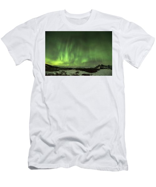 Aurora Borealis Or Northern Lights. Men's T-Shirt (Athletic Fit)